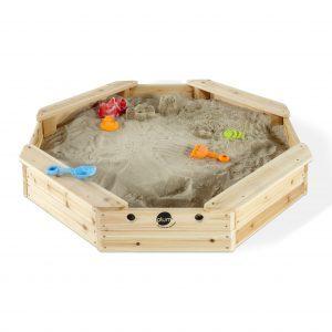 Plum Sandkasten Kinder draussen Holz